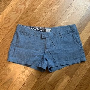Volcom Blue Denim Like Shorts